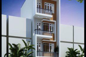mẫu thiết kế nhà phố đẹp 4 tầng phong cách hiện đại 5x12m