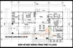 thiết kế nhà cấp 4 đẹp 3 phòng ngủ 170m2