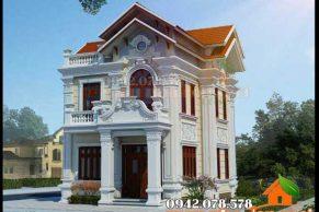 kiến trúc biệt thự cổ điển 2 tầng kiểu Châu Âu