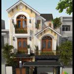 Mẫu biệt thự phố 3 tầng mặt tiền 8m kiến trúc tân cổ điển