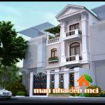 Kiến trúc biệt thự 3 tầng mặt tiền 7.5m phong cách tân cổ điển