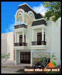 Mẫu thiết kế nhà phố tân cổ điển đẹp 3 tầng 9x16m duyên dáng nhất 2018