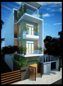 Mẫu thiết kế nhà phố 3 tầng 5x18m đẹp phong cách hiện đại tích hợp nội thất tiện nghi