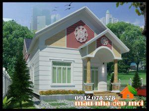 Mẫu nhà cấp 4 có 3 phòng ngủ diện tích 170m2 kiến trúc mái thái sang trọng và tinh tế