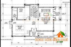 thiết kế biệt thự Pháp 2 tầng 135m2