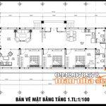 Bản vẽ thiết kế nhà cấp 4 mái thái 135m2 có 3 phòng ngủ tại Khánh Hòa
