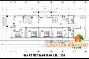 thiết kế nhà cấp 4 mái thái 135m2