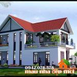 Say mê với hình ảnh biệt thự 2 tầng có 4 phòng ngủ 100m2 kiến trúc hiện đại tại Bắc Ninh