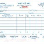 Địa chỉ chuyên nhận in phiếu xuất kho giá rẻ và uy tín nhất tại Tphcm