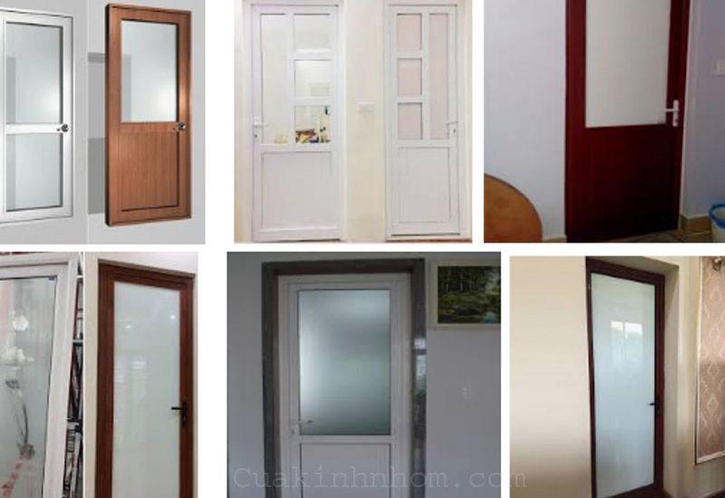 Làm cửa nhôm kính nhà tắm ( nhà vệ sinh ) giá rẻ Tphcm