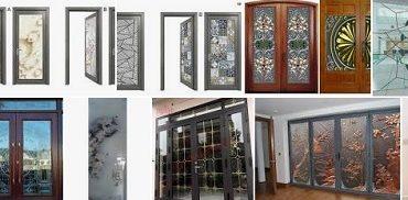 Mẫu cửa kính hoa văn nghệ thuật đẹp, trang trí nội thất