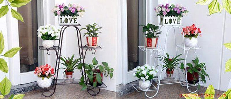 Bán kệ sắt để cây cảnh, chậu hoa ngoài trời giá rẻ tại Bình Chánh TpHCM